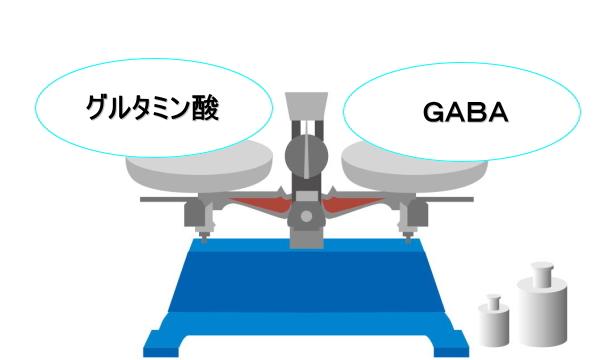 グルタミン酸とGABAの天秤